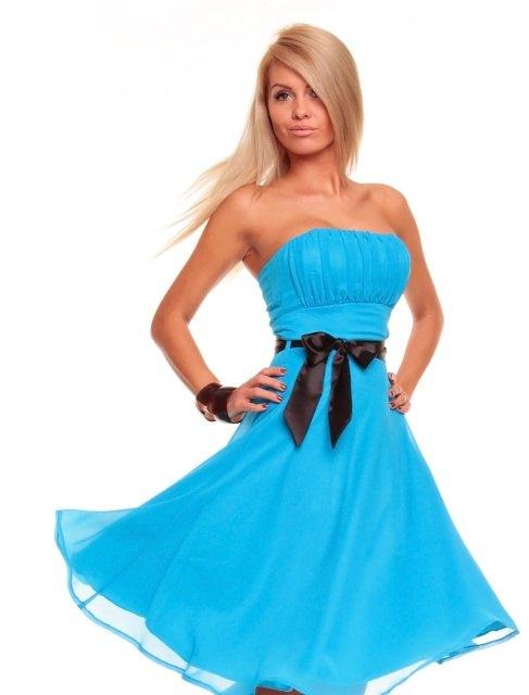 Modré plesové šaty - Butik Radost 71ad704c14