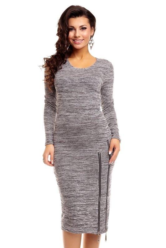 836b41440dc4 Pletené šaty s dlouhým rukávem - Butik Radost