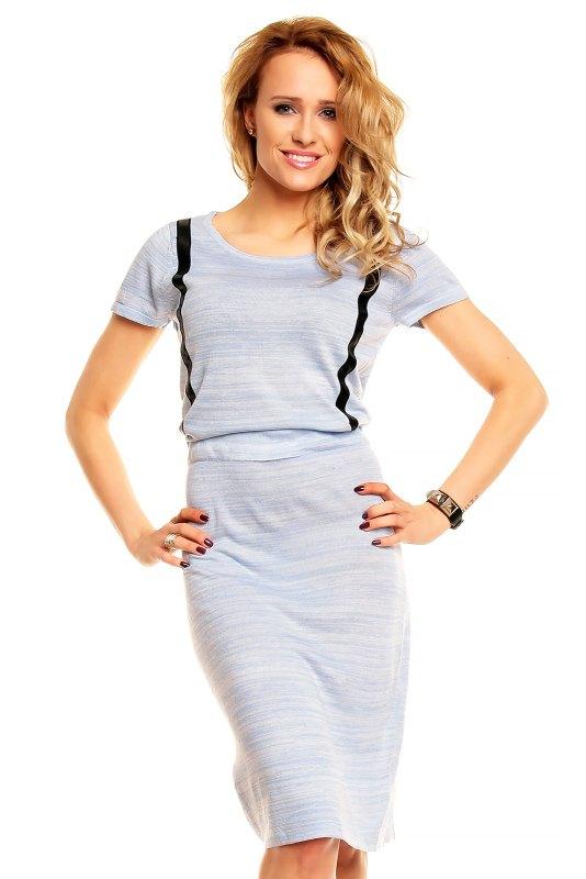 b1c86e84a4f Pletené šaty s krátkým rukávem - Butik Radost