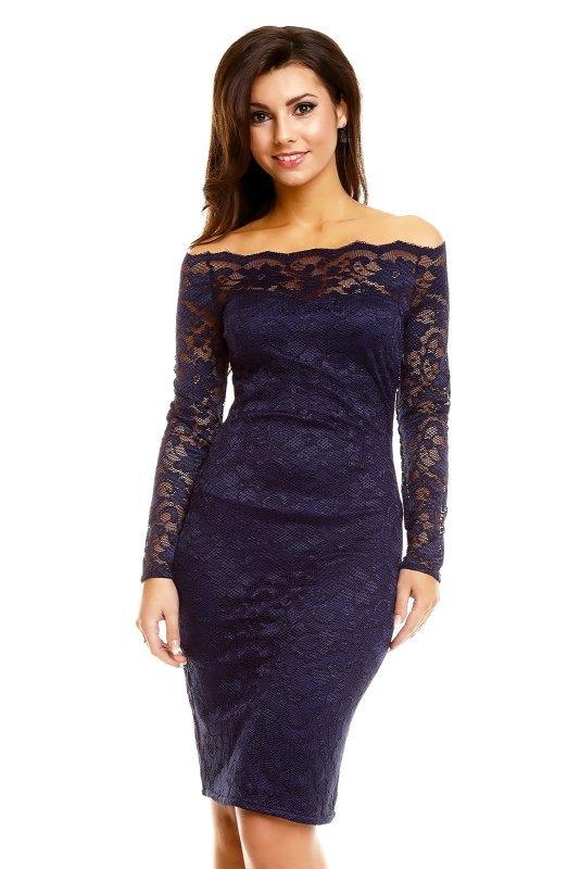 c3af227a79d Pouzdrové společenské šaty z krajky