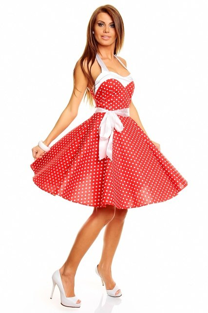 Červené šaty pro filmovou hvězdu - Butik Radost 95814ebf5c
