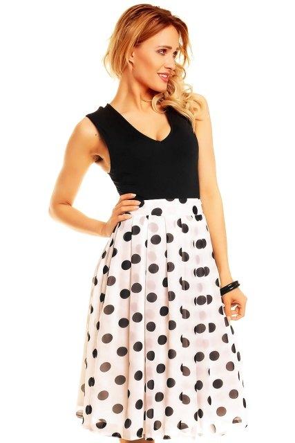 Retro sukně s puntíky