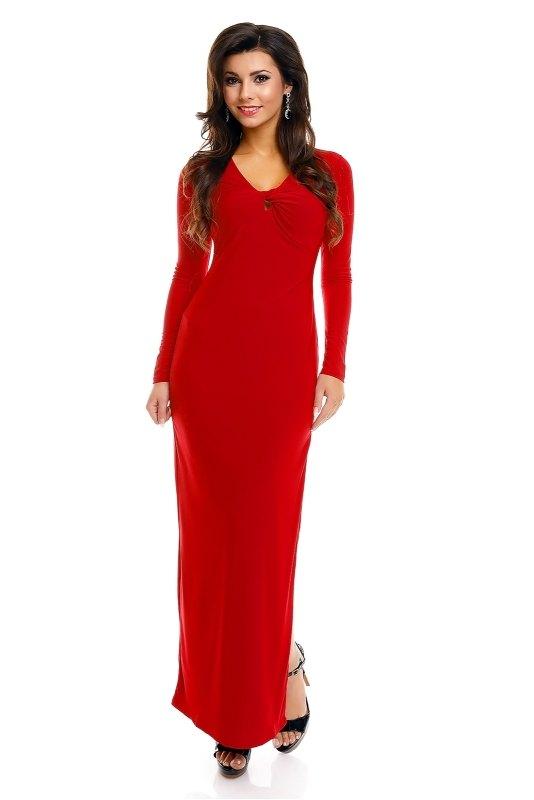ffe0e0017fe Šaty s dlouhým rukávem červené - Butik Radost