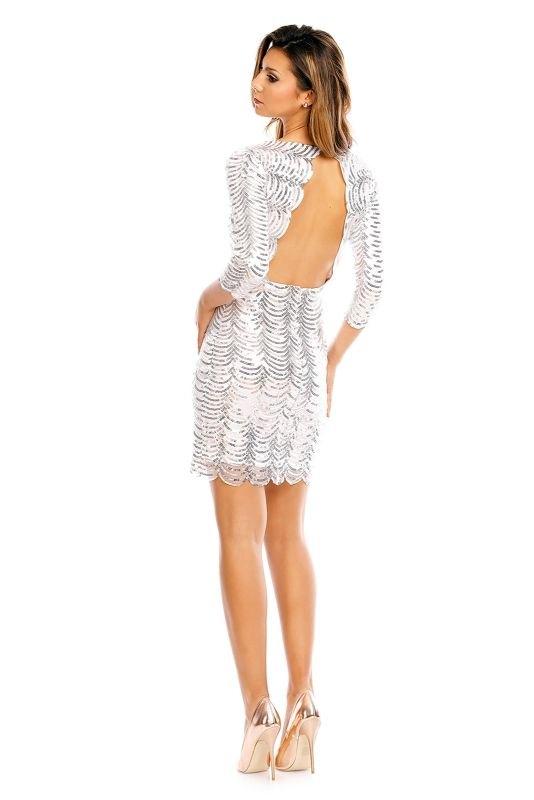 2554a05d2c Stříbrné společenské šaty - Butik Radost