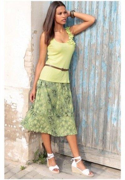 473648afa6e7 Letní sukně se vzorem - Butik Radost