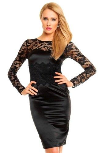 40ca52f0b6e Exkluzivní saténové šaty s krajkou Deluxe - Butik Radost