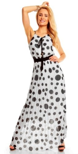 7a1e8dc6311 Dlouhé šifónové šaty retro vzhled
