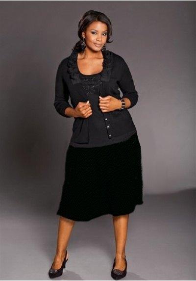 Vybrat velikost · Černá šifónová sukně (vel. XXL) f947ef6455