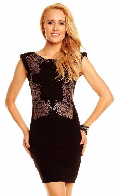 2fcda09c024 Společenské šaty krátké černé - Butik Radost