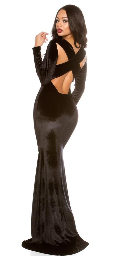 478ee2c4c288 Dlouhé plesové šaty ze sametu