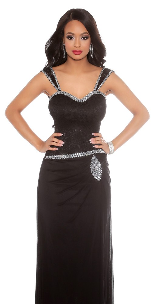 Dlouhé večerní šaty se štrasem 588835e87e