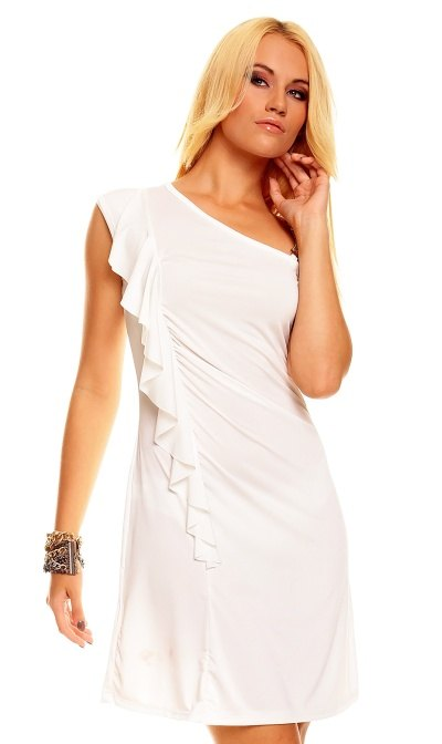 Bílé šaty - Butik Radost fbb6e414fec