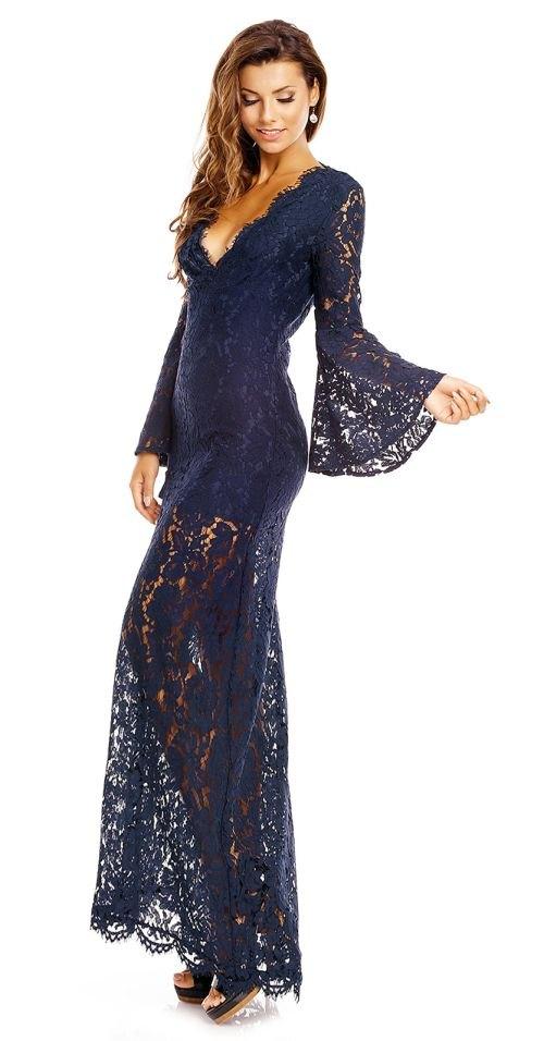 138a1704501a Luxusní plesové krajkové šaty - Butik Radost