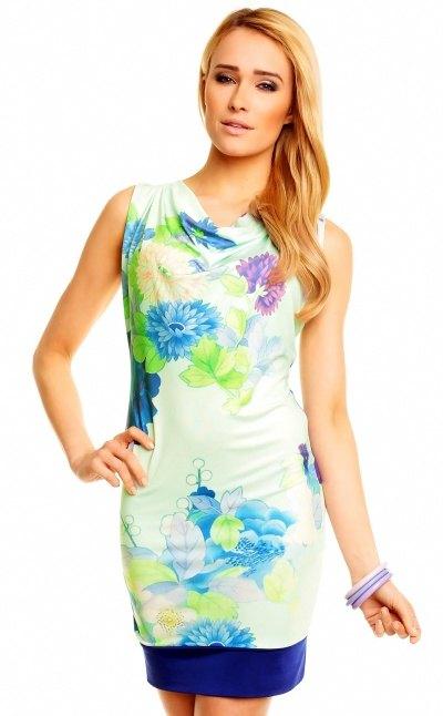 Květované pouzdrové šaty - Butik Radost f9ec9e0fdd