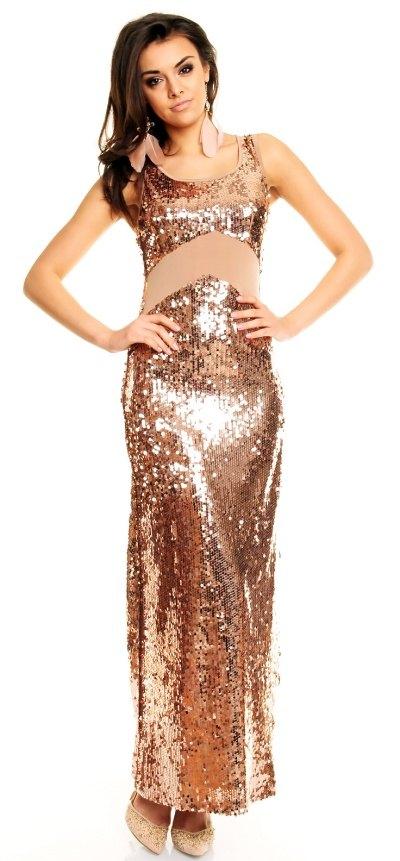 6e8faf0b3fe Zlaté plesové šaty dlouhé - Butik Radost