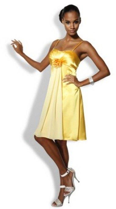 f14fe6dc578 Žluté společenské šaty - Butik Radost