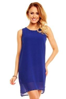 Modré dámské šaty