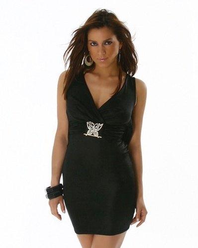 a07459a92657 Černé společenské šaty s motýlkem - Butik Radost