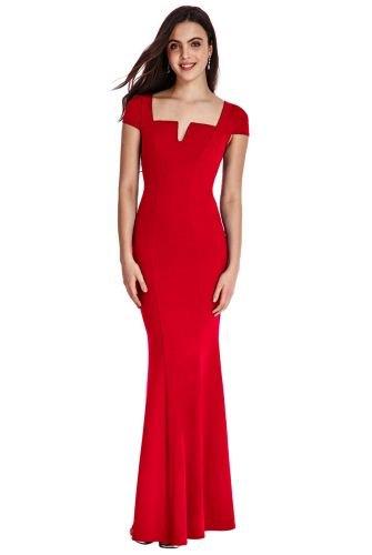 Noblesní dlouhé červené šaty na ples