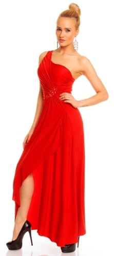 397590e982c9 Dlouhé červené společenské šaty (vel. S M) - Butik Radost