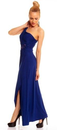 d3969d69abbf Dlouhé modré plesové šaty (vel. S M) - Butik Radost