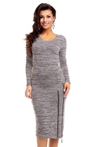 7825efb80b74 Pletené šaty s dlouhým rukávem