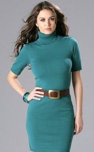 Pletené šaty s rolákem (vel. XL) - Butik Radost e04c02b4d75