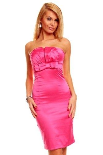 Saténové růžové šaty (vel. M L) - Butik Radost 9cab6761fc