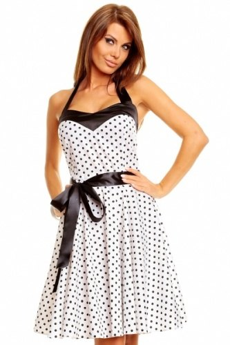 Puntíkaté retro šaty ála Marilyn Monroe