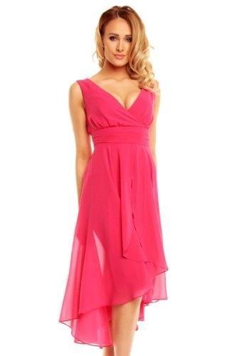 Vybrat velikost · Šifónové růžové společenské šaty d921a1fc99