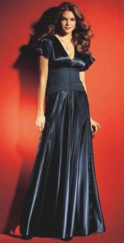 Saténové plesové šaty (vel. M) - Butik Radost 4a013f803a