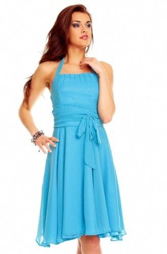 Nebesky modré šifónové šaty