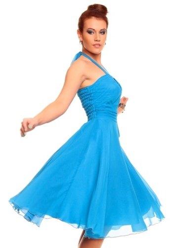 6f05d5f21bcf Modré šaty ve stylu Marilyn Monroe (vel. S M) - Butik Radost