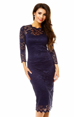 Společenské šaty s dlouhým rukávem 8af5c7ac84