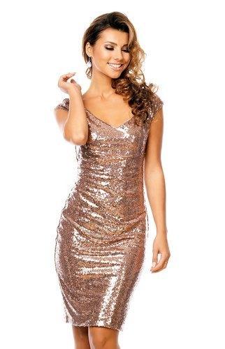 Zlaté společenské šaty 92080d6c2f